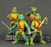 NECA Teenag Mutant Ninja Turtles Figure TMNT dolls Leo Raph Mikey Don 4pcs/lot PVC 88 Classic Collection Action figures