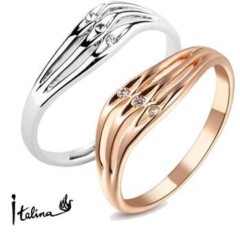 Настоящее Italina Rigant подлинная австрия кристалл 18 К позолоченные кольца для ...