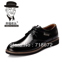 2013 new men, 100% first layer of leather, leisure, business dress shoes, wedding shoes, men leather shoes, free shipping
