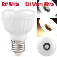 Led Lamp E27 85-260V 25 LED 3528SMD 5W Warm White White Light E27 led Infrared PIR Motion Sensor light Detector 400LM