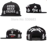 SSUR Snapback hat hot sale Personalized font black sport baseball cap men women hip hop caps!Free shipping