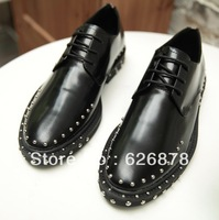 Free shipping Fashion trend of the punk men's fashion genuine leather bullock men's fashion personality rivet men's