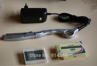 wholesale ultrasonic hot vibrating Razor for hair cut /hair beauty salon +10 pieces of super quality  razor blades