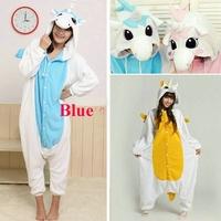 Free Shipping Animal Romper Mens Ladies Fleece Suits Onsie Fancy Dress Costume Onesie Pajamas *Blue / Gold / Blue Unicorn