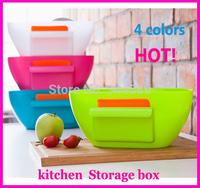 KB 1006 Free shipping minimum order $10 (mixed items) creative kitchen quality plastic storage box desktop garbage storage bin