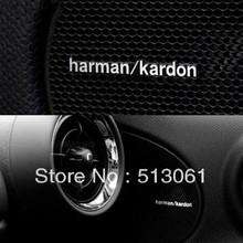 Free shipping 10 pcs harman/kardon  Hi-Fi Speaker audio Speaker Aluminum Badge Emblem 41x5mm(China (Mainland))