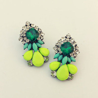 New 2014 Hot sale Min order $10 Trend fashion shourouk crysta vintage statement Earrings for women jewelry Factory Price