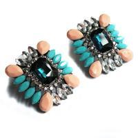 New  Hot sale Min order $10 women fashion shourouk crysta vintage statement stud  Earrings for women jewelry wholesale