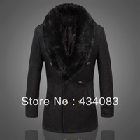 Free shipping cheap 2013 woolen overcoat 3613 fur collar 0 p200 plus size