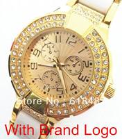 Relogios Wholesale New 2013 Fashion Luxury Brand Name GS Quartz Watch Women Men Fashion Casual Dress Rhinestone Watch Items