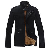 2015 New Arrival Jacket Male Thickening Outerwear Medium-Long Jacket Men's Clothing Winter Men Coat