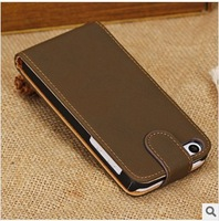 For iphone 5C retro PU leather, New High quality flip case leather For iphone 5C Via DHL Free shipping (H184)