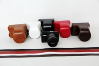New arrival Super soft PU leather camera case camera bag for Canon EOS M, EOSM, EOS-M Digital Mirrorless Camera