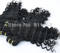 Mixed 2pcs/lot Malaysia virgin human hair extensions natural color deep curly/wave hair weft luxury gift to be queen hair