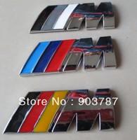 by DHL 100pcs 74mm 82mm ABS chrome M power emblem M tech sticker badge rear boot badge wholesale