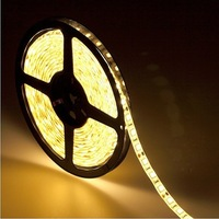 20m/lot 5050 led strip Warm white led strip waterproof include a power plug 60 leds per meter free shipping