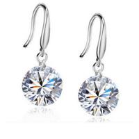 AAA crystal earrings 925 sterling silver gem-stone drop earrings gem-stone Good Quality Best Gift Free Shiping(ST-ER-003)
