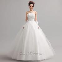 2014 sweet princess tube top wedding dress bride flower strap tube topvestido de novia vestido de noiva