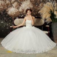 The bride wedding dress formal dress white 2014plus size maternity wedding dress mm tube top vestido de novia vestido de noiva