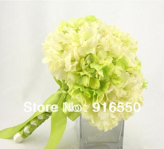 Casamento Silk Floral Bouquet Flor decorativa do casamento do Hydrangea / buquê de noiva / casamento Arranjo Floral(China (Mainland))