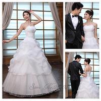 2012 suzhou wedding dress formal dress princess bridal tube top  Only one day time vestido de novia vestido de noiva