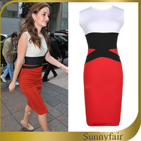 2 Types Tunic Dress Sweet Bodycon Dress 2014 Women Summer Dresses Long Sleeve & Sleeveless White & Red Party Cocktail Clothing
