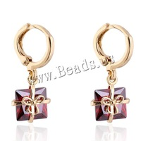 Free shipping!!!Brass,Women Jewelry, gift shape, 18K gold plated, with cubic zirconia, nickel, lead & cadmium free, 10mm