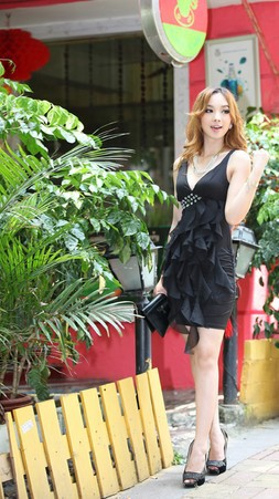 Free shipping New hot Fashion Sexy dress High-quality thin flouncing Lady nightclubs clothing K09(China (Mainland))