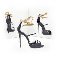 2014 New Women Gladiator High Heel Sandals,Metal Dragon Summer Shoes for Women,Plus Size gz Flip Flops Platform Women Pumps