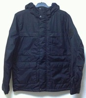 FREE SHIPPING 2013 matix multi-pocket male thickening wadded jacket rib knitting cuff waterproof thermal warm
