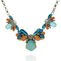 New Design Fashion European Crystal Retro Vintage Short Necklaces Colorful Pendants  For Women Wholesale Free Shipping