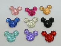 20 pcs Acrylic Flatback Rhinestone Mouse Gems 24X20mm Flat Back Resin