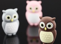 Novel Lovely Owl USB 2.0 Flash Pen Drive 2 4 8 16 32GB Christmas Gift Gadget Storage Devices Silicone Cheap Sale Free Shipping