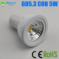 6X Dimmable E27 GU10 GU5.3 MR16 5W sharp cob 450LM led spot bulb(4000-4500K available)