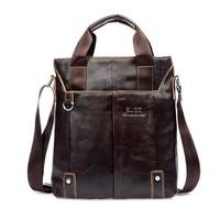 Hot new men's first layer of leather handbags, vintage leather messenger bag, fashion shoulder bag wholesale, free shipping