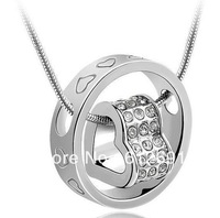 Necklace & pendants new 2013 heart necklaces fashion charms gold plated jewelry LM-N043