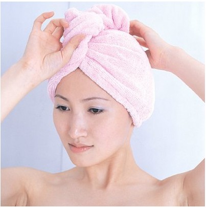 Wholesale 50X 2013 new creative home super absorbent microfiber hair dry towel cap bathroom articles(China (Mainland))