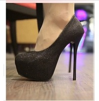 2013 fashion ultra high heels wedding shoes plain single shoes ol elegant high-heeled single shoes
