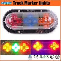 New 2014 24V Auto Car 12 LED Side Marker Lights for Truck Waterproof  Strobe Flash Tail Light/Side Light/Stop/Turn Light