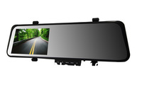"Free shipping New arrival 4.3"" rear view mirror car dvr camera registrator+Novatek 96220+night vision+G sensor+motion detection"