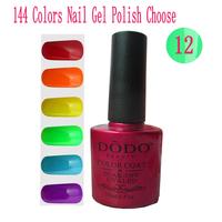Soak Off UV LED Gel Nail Polish 12Pcs/Lot (10Pcs Colors Gel+1 Base +1 Top Coat) 144 Colors Environmentally Friendly Products
