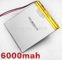 4*94*105mm 3.7V 6000mAh Tablet update Battery For Tablet SmartQ T20 AMPE A86 Dual Core P85 CUBE U35GT DUAL CORE,U35GT QUAD CORE