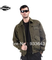 free shipping lapd air jacket pilot jacket casual outdoor outerwear top army green\black