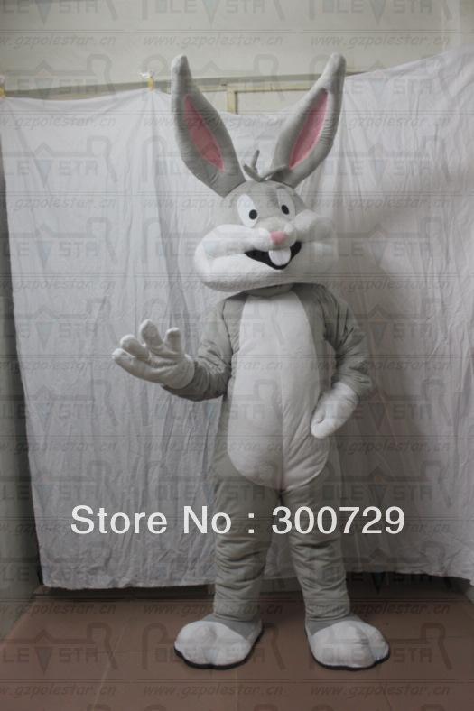 hot sale bugs bunny mascot costumes cute bunny mascot costumes cartoon movie mascot costume(China (Mainland))