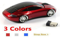 2013 HOT !!! 2.4G 1600DPI 3D Car Shape Wireless Optical Mouse Mice Car Wireless Mouse for Laptop PC USB Receiver #10M6