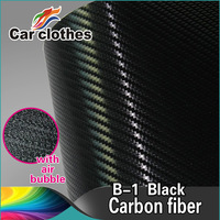 Best Quality  1.52X30m Warranty Sticker 3D Film Carbon Fiber Vinyl