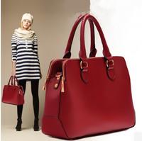 Free shipping! 2013 winter new fashion women's handbag  big shoulder bag PU leather brand messenger bag