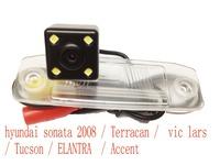 hyundai sonata 2008 / Terracan /  vic lars / Tucson / ELANTRA  / Accent hd ccd+led car Waterproof camera