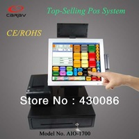 15'' All-in-one Pos System With Thermal Printer(3 ports) and Barcode Scanner