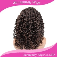 100% Unprocessed Virgin Brazilian Human Hair Full Lace Wigs Dark Brown Color Curly Lace Wigs Brazilian Hair